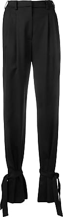 Attico high waisted ankle tie trousers - Preto