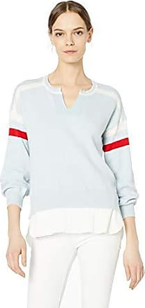Democracy Womens Long Sleeve Color Block Drop in Pocket Sweater