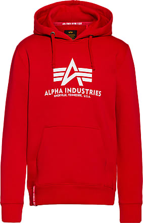 Alpha Industries Hoodie Herren in speed red, Größe XXL