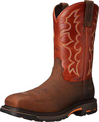 Ariat Ariat Mens Workhog Steel Toe Work Boot, Earth/Brick, 8 EE US