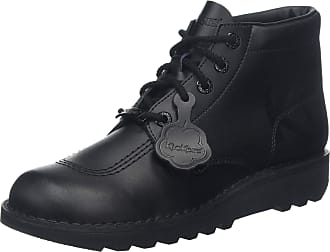 Kickers Adult Unisex Kick Hi Luxe Black Leather Shoes