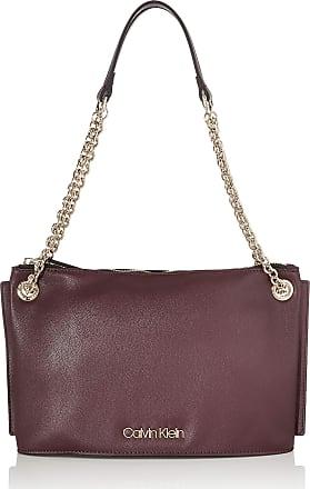 Calvin Klein Womens Chained Conv Shoulderbag Cross-Body Bag Red (Merlot)