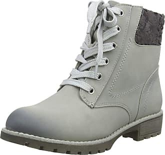 Jana Womens 8-8-26214-21 Combat Boots, Grey (Lt Grey 204), 3.5 UK