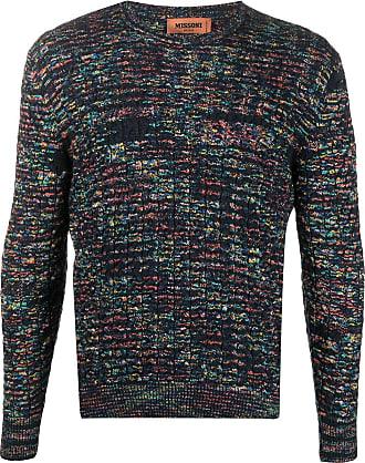 Missoni Suéter decote careca de tricô - Azul