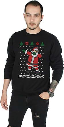 Sanfran Clothing Sanfran - Dabbing Santa Christmas Xmas Ugly Festive Funny Father Jumper Sweater - Large/Black