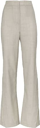 Wright Le Chapelain Calça pantalona cintura alta - Cinza