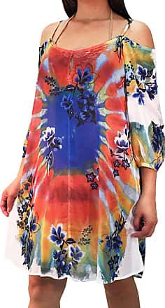101 Resort Wear Vestido Saída de Praia 101 Resort Wear Estampada Ombro a Ombro Tie Dye