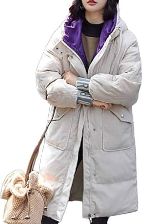 VITryst Womens Thicken Puffer Hooded Mid Long Down Jacket Parka Coat Outwear,1,X-Large