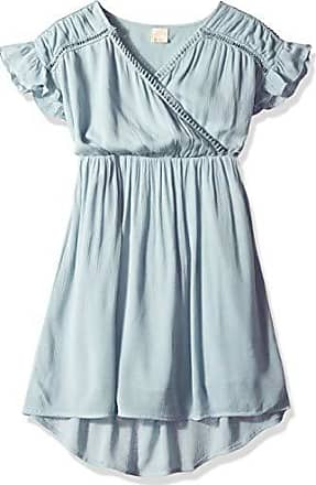 ONeill Girls Chaser Woven Dress with Ruffle Sleeve