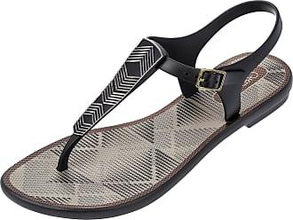 603760641116ff Grendha Black Romantic Size 6 flip Flops