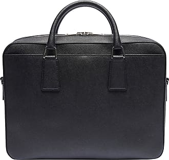 80316279779 Sandro Sac porte-documents en cuir grainé Noir Sandro