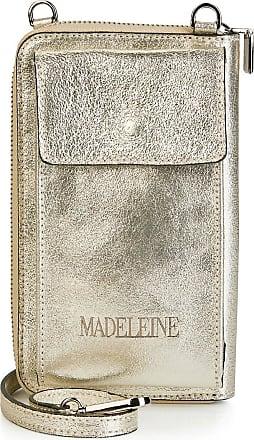 Madeleine Geldtäschchen in goldfarben MADELEINE Gr ohne, platinfarben für Damen. Leder