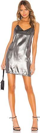 Kendall + Kylie X REVOLVE Liquid Shine Mini Slip Dress in Metallic Silver