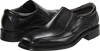 cbc304cdcd9 Dockers Franchise Bike Toe Loafer (Black Polished Leather) Mens Shoes