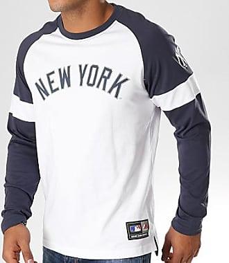 Majestic Athletic Tee Shirt Manches Longues Eldon MLB New York Yankees  Blanc Bleu Marine 15241ca8b1d