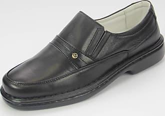 Generico sapato social, masculino, no stress em legitimo couro mestiço (pelica), solado de borracha (pu) modelo CR-1003 (44, mestiço preto)