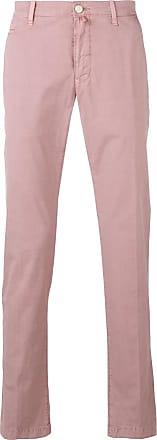 Jacob Cohen Light pink cotton chinos