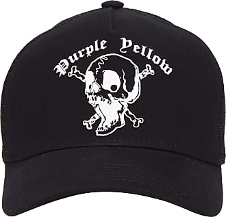 PURPLE YELLOW BONÉ SCREAMMING SKULL - PRETO