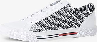 Tommy Jeans Herren Sneaker mit Leder-Anteil weiss