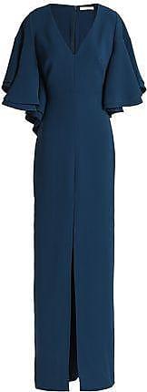 Halston Heritage Halston Heritage Woman Draped Crepe Gown Navy Size 0