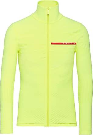 Prada Jaqueta com detalhe de logo - Amarelo