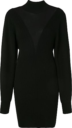Dion Lee knitted merino ribbed dress - Black