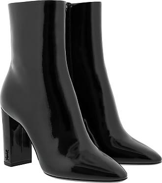Saint Laurent Boots & Booties - Lou Booties 95 Leather Black - black - Boots & Booties for ladies