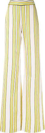 Alexis Calça pantalona Tarik listrada - Amarelo