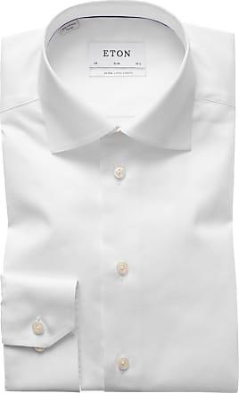 Eton Businesshemd Slim Fit mit extra langem Arm von Eton in Weiss für Herren