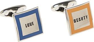 Etro Cufflinks With Logo Mens Silver