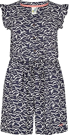 Weird Fish Suzanne Patterned Cap Sleeve Playsuit Dark Navy Size 16