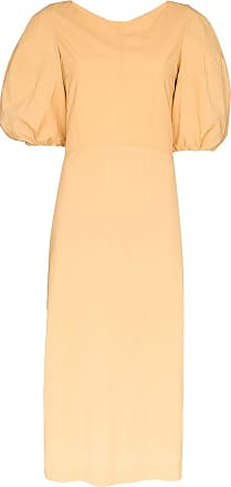 Low Classic puff sleeve midi dress - Yellow