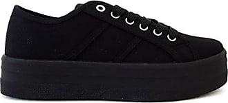 Hailys Damen Sneaker aus Spitze Low Top Canvas Sportschuhe