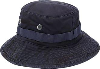 Acne Studios logo-embroidered bucket hat - Azul