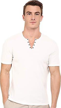 John Varvatos Star USA Men/'s Long Sleeve Crew Neck Waffle Knit Tee Shirt Salt