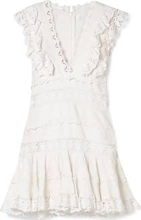 4a7793b068 Zimmermann Wayfarer Ruffled Crochet-trimmed Linen Mini Dress - Off-white
