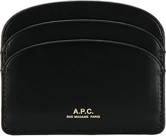 A.P.C. Porta cartões com logo - Preto