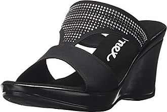 86e386d29491 Onex Womens Gabi Wedge Sandal Black 11 M US