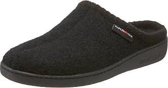 Haflinger Unisex AT Classic Hardsole Boiled Wool Hard Sole Slipper, Black, 36 EU/5 M US Women