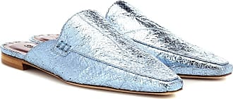 Sies Marjan Lia metallic leather slippers