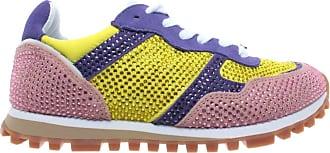 Liu Jo Womens Shoe Sneaker Milano Alexa Running Lotus Gothic Strass New Yellow