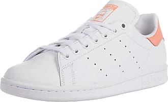 adidas Originals womens Stan Smith Sneaker, White/White/Chalk Coral, 4.5 US