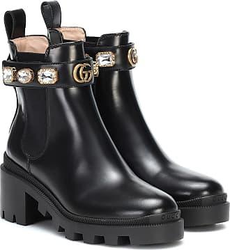 Gucci Ankle Boots Trip aus Leder