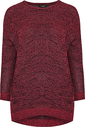 Yours Clothing Clothing Womens Chunky Knitted Jumper Top Warm UK Plus Size Size 30-32 Red
