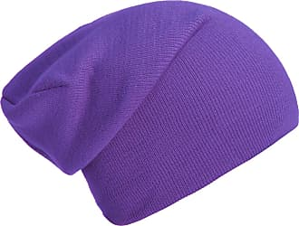 DonDon winter hat slouch beanie warm classical design modern and soft lilac
