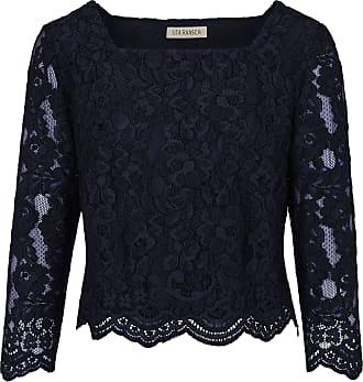 Uta Raasch Lace blouse square neckline Uta Raasch blue