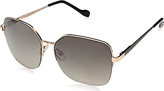 Jessica Simpson Womens J5502 Rgdox Square Sunglasses, Rose Gold/Black, 58 mm