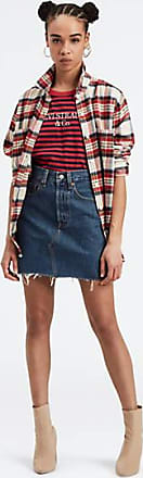 Levi's Deconstructed Iconic Boyfriend Skirt - Blue