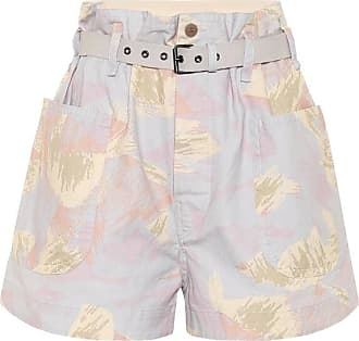 Isabel Marant Rike high-rise cotton and linen shorts