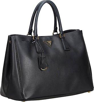 26caa9b6e535 Prada Black Leather Saffiano Galleria Handbag
